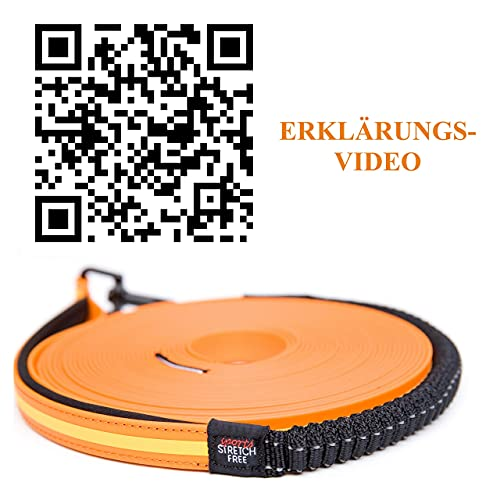 Diggar® Schleppleine 10 Meter neon orange Führleine Feldleine reeflektierend NEU Rückdämpfer
