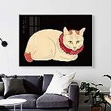 Pintura sin Marco Pintura de Lienzo Abstracta Gato Animal Moderno decoración del hogar Imagen de Arte de Pared para Sala de estarAY5388 60X90cm