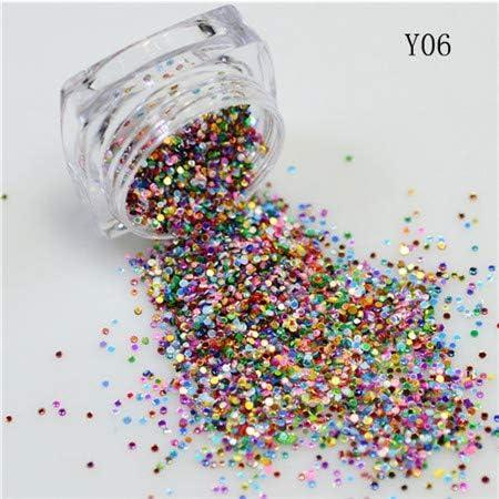 Gabcus New 1Bottle 2g Colorul Ranking TOP2 Round Glitt Shape Design Thin Cheap mail order shopping Nail