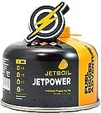 First and Only Airsoft Jetboil Jet Boil Jetpower Gas de la Estufa de Gas propano en Recipiente de 100 g y Parche FAO, Potencia de propano para su Estufa/Estufa de Gas (100)