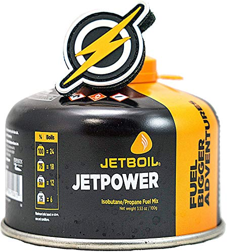 First and Only Airsoft Jetboil Jet Boil Jetpower Propangasherdgas in 100 g Kanister und FAO-Pflaster, Propangasleistung für Ihre Gasheizung/Ihren Gasherd (100)