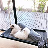 Cat Window Perch for 2 Cats Large Cats Hammock Window Seat, Big Cats Perches Window Mounted Cat Beds, Extra Large and Sturdy Hanging Pet Window Bed Cat Shelves with 4 Suction Cups Holds Up to 60lbs