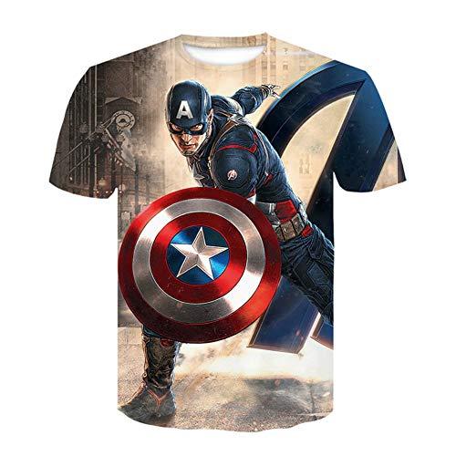 Towel Rings Capitan America,Camisetas Deportivas, Impresión De Guerrero Cuántico De Vengadores para Homb