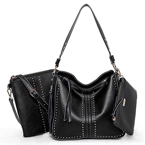 Montana West Shoulder Bag Concealed Carry Purses For Women Pistol Crossbody Handbag Leather Tote Gun Pocket Black MWC-1001S-3-BK
