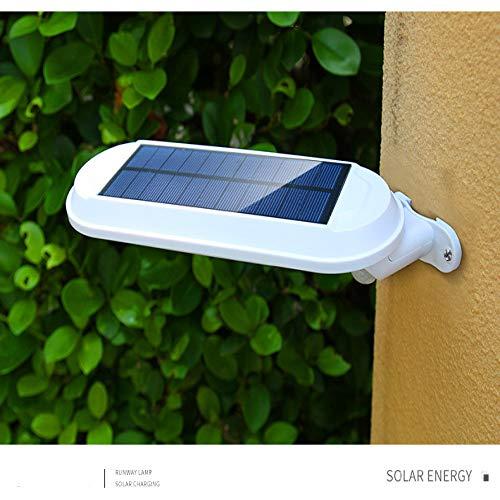 Lámpara de pared solar MLXLX, lámpara de pared solar para patio, luz solar de inducción del cuerpo humano súper brillante para el hogar