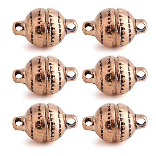 Brino magneetsluiting, 2 kleuren 6 pairs/bag bal magneetsluiting sieraden accessoires voor halsketting armband ketting