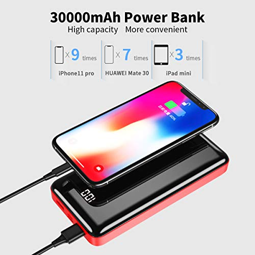 Bextoo 30000mAh Power Bank USB-C Portable Charger External Battery Pack with LCD Digital Display, Dual USB Output High…