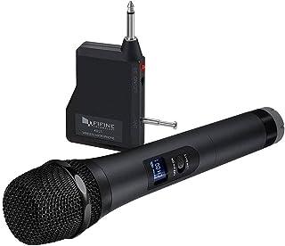 Fifine Wireless UHF Handheld Microphone Cardioid Dynamic Cordless Audio Mic BLK