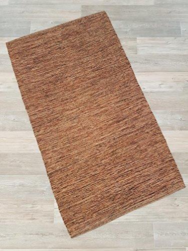 Kottig Fleckerlteppich Handweb Fleckerl Teppich Mallorca 80x150 cm 100% Baumwolle Braun