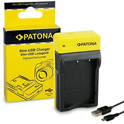 PATONA Slim Ladegerät kompatibel mit Fuji NP-40 / NP-60 / NP-95 / NP-120 / Pentax D-Li8 / Kodak Klic-5001 / Casio NP-30 Akkus