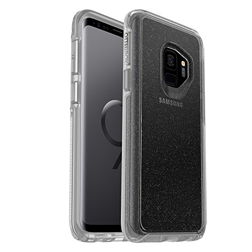 OtterBox SYMMETRY CLEAR SERIES Case for Samsung Galaxy S9 - Retail Packaging - STARDUST (SILVER FLAKE/CLEAR)