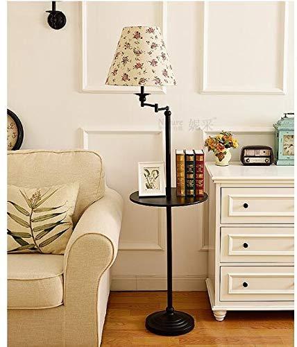 XUSHEN-HU Stehlampe Wohnzimmer Schlafzimmer Einfache Lagerung Vertikaler Couchtisch Tablett Fernbedienung Dekorative Lampe Modern (Lampenschirm-Farbe: 7)