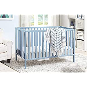 Suite Bebe Palmer 3 in 1 Convertible Crib – Quick Ship, Baby Blue