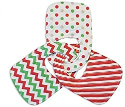 Christmas Pattern Bibs for Baby