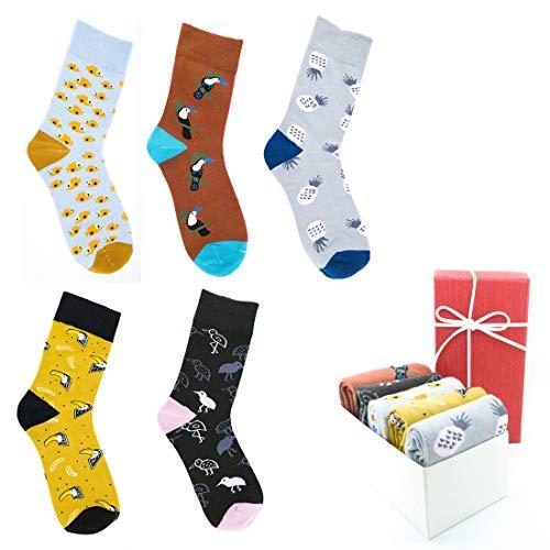 Llamabanana® 5 pares de calcetines hipster para mujer,