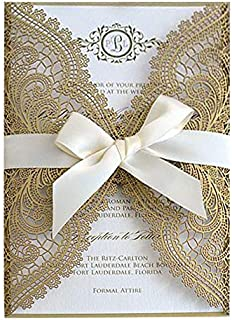 Best wedding invitations laser cut lace Reviews
