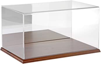 Plymor Clear Acrylic Display Case with Hardwood Base (Mirror Back), 16