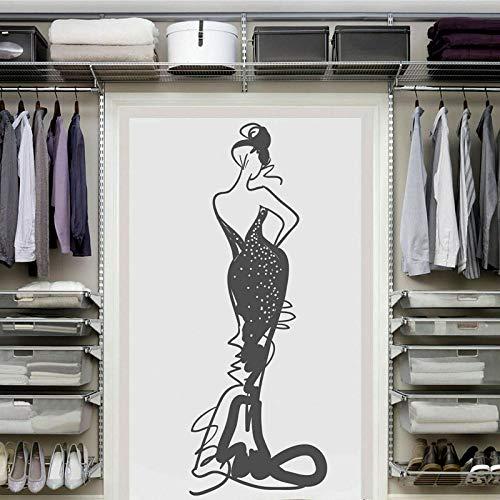 zqyjhkou Frau Vinyl wandaufkleber Kleidung schaufenster Dekoration ng Salon Hause Schlafzimmer Dekoration ng73.5x199.5cm