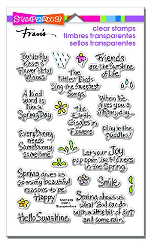 Stampendous SSC1239 Clear Stamps, Spring Sentiments