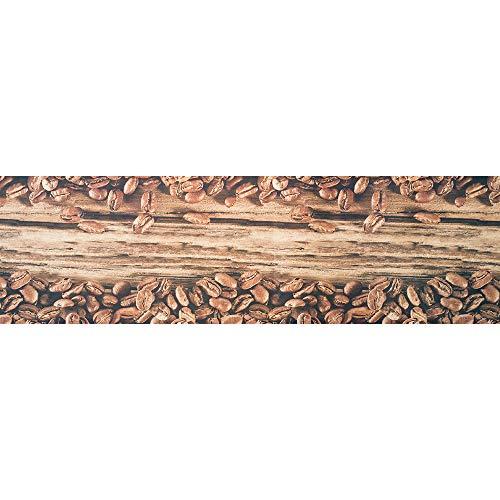 IlGruppone Tappeto passatoia Made in Italy Fantasia Chicchi di caffè Antiscivolo Lavabile Aderente - Caffe - 50x350 cm