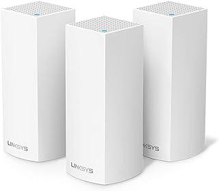 لينكسيس WHW0303 Velop نظام واي فاي ثلاثي باند كامل المنزل (AC6600 راوتر واي فاي/موسع واي فاي للتغطية السلسة، الأجهزة الأبو...