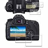 iDaPro - Protector de pantalla para Canon EOS 5D Mark IV / 5D Mark III + protector de pantalla superior de PET (2+2 unidades)