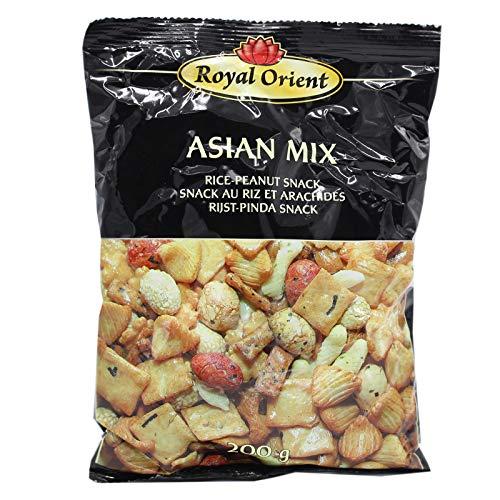 Royal Orient Asian Reis Erdnuss Cracker Mix Reiscracker 12x200g