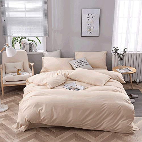 Home Accessories Ensemble textile de maison de couleur pure housse de couette quatre pi egrave;ces en coton et literie housse de couette en lin de lit en coton linge de lit en microfibre housse de