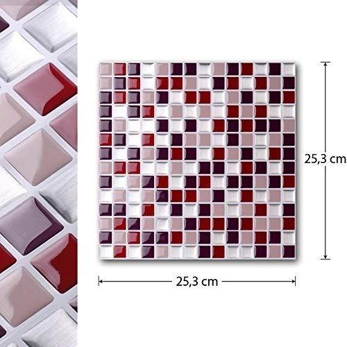 SHTSH Sht Baldosa Mosaico Auto-Adhesivo de la Etiqueta engomada DIY Wall Cocina Baño Decoración Vinilo (Color : T80204)