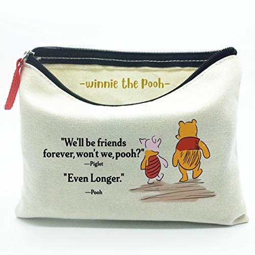 WIEZO-USA We'll be Friends Forever, The Best Friendship Gift to Friends,Winnie The Pooh Gift, Makeup Bag Gift