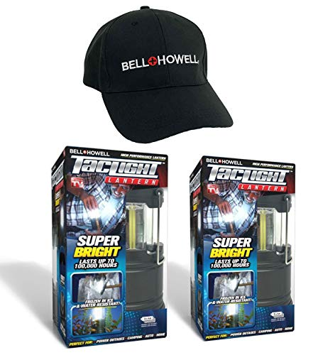 Bell+Howell 2-Pack TACLIGHT Lantern with Cap, Collapsible As Seen On TV