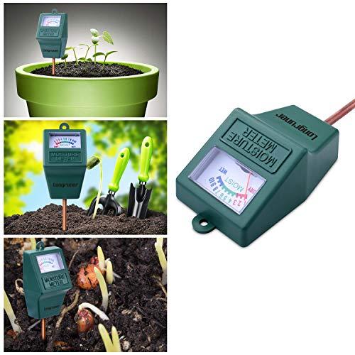 Longruner LKP02-VC Indoor/Outdoor Soil Moisture Sensor Meter,So, Green
