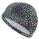 Bokueay Gorro de natación Tie-Dye Color Estampado geométrico...