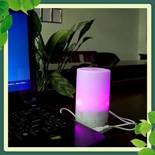 BoNew oral Mini Portable à ultrasons Cool Mist Aroma humidificateur de voiture/USB série 50 ml aromathérapie Diffuseur d'huiles essentielles pour chambre à coucher, le yoga, SPA et de bureau
