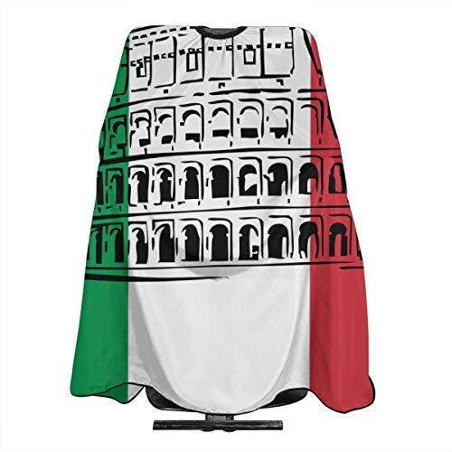 90ioup Italienische Flagge Römisches Kolosseum Professionelle Haarschürze Friseurumhang Umhang Kleid Haarschnitt Tuch