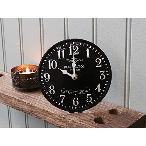 Chic Antique Tischuhrschwarz Antiguo Town Reloj Metal Nuevo Reloj Reloj de Cocina Antiguo Vintage