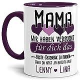 Personalisierte Geschenk-Tasse mit Spruch für Mama von den Kindern
