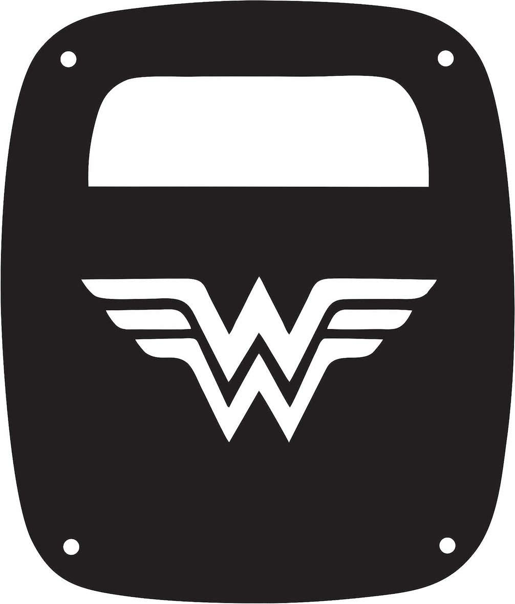 Black with Black for JK//JKU Flag Gas Cap Cover Stickysight.com Wonderwoman in 3D Wonder Woman Super Hero