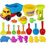 Haunen 21 teiliges Set Strand-Sand-Spielzeug Strandspielzeug mit Schubkarre mit viel