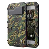 Beasyjoy Phone Case Compatible with iPhone 7 iPhone 8, Heavy Duty Cover with Screen Waterproof,Three Layers Body Shockproof Drop Proof,Tough Rugged Metal Bumper Military Grade Defender Outdoor,Camo