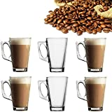 6X Latte Glasses Tea Coffee Cappuccino Hot Drink Mug Cups 240ml High Temperature Resistant - by Guilty Gadgets