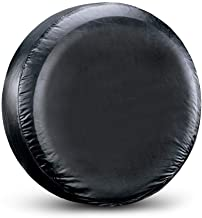 """Spare Tire Cover Fit for Your SUV, Jeep, RV, Trailer, Truck, Waterproof Dust-Proof PVC Leather Tire Covers (15 inch for Diameter 27.56"""" - 29.53"""" )"""