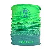 Trollkids Kinder Troll kuscheliges weiches Multifunktionstuch, Darkgrün/Lightgrün, Größe OneSize