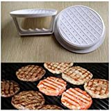 Generic 1Pc DIY White ABS Stuffed Burger Press Hamburger Patties Maker Beef Mould