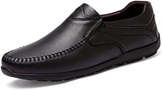 2018春秋レザーシューズ、レジャー通気性怠惰靴、ウォーキングシューズ、ノンスリップスポーツシューズ (Color : ブラック, Size : 44)