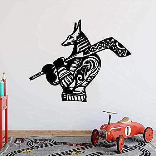 Wandaufkleber Cartoon Eishockey Hund Wandaufkleber Kinderzimmer Schlafzimmer Sport Hockey Tier Wandtattoo Wohnzimmer Vinyl Home Decor 70x56cm