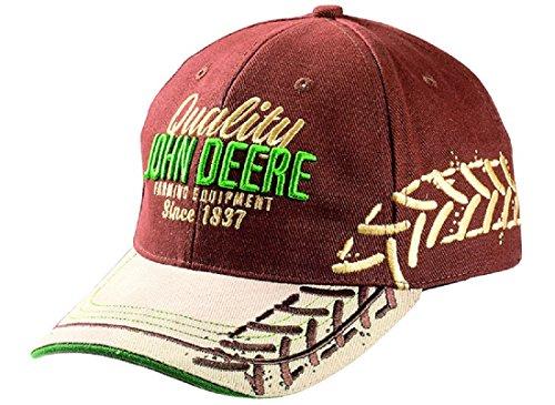 John Deere Herren Baseball Cap Track Rot/Beige