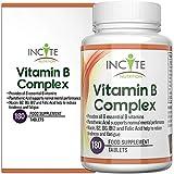 Un complexe de vitamines B haute puissance - 6 petits comprimés de 180 mm garantis de remboursement à 100% (6 mois d'approvisionnement) FABRIQUÉ AU ROYAUME-UNI contient toutes les 8 vitamines avec B1 B2 B3 B4 B5 B6 B7 biotine B9 acide folique et B12 Méthylcobalamine - convient aux hommes et aux femmes, un supplément par jour de toutes les vitamines B - Ce supplément de complexe B pris tous les jours augmente l'énergie et réduit le stress, Favorise la grande thyroïde