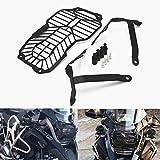 Repuestos Powersports Parrilla CNC motocicleta Faro ligero principal protector for cubrir la BMW R1200GS 2013 2014 2015 2016 2017 2018 R 1200 GS 1200gs (Color : Black)