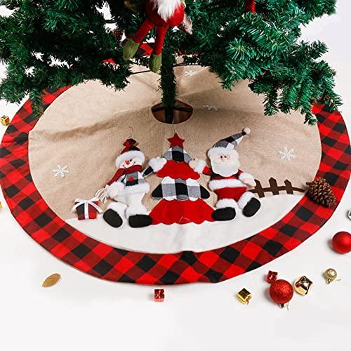 47 Pulgadas Cojín Inferior de Falda de Árbol de Navidad, Falda de Árbol...